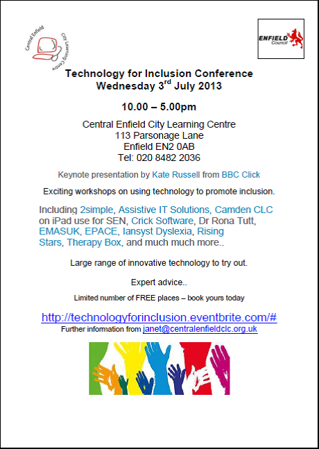 Technology for inclusion conference - Enfield
